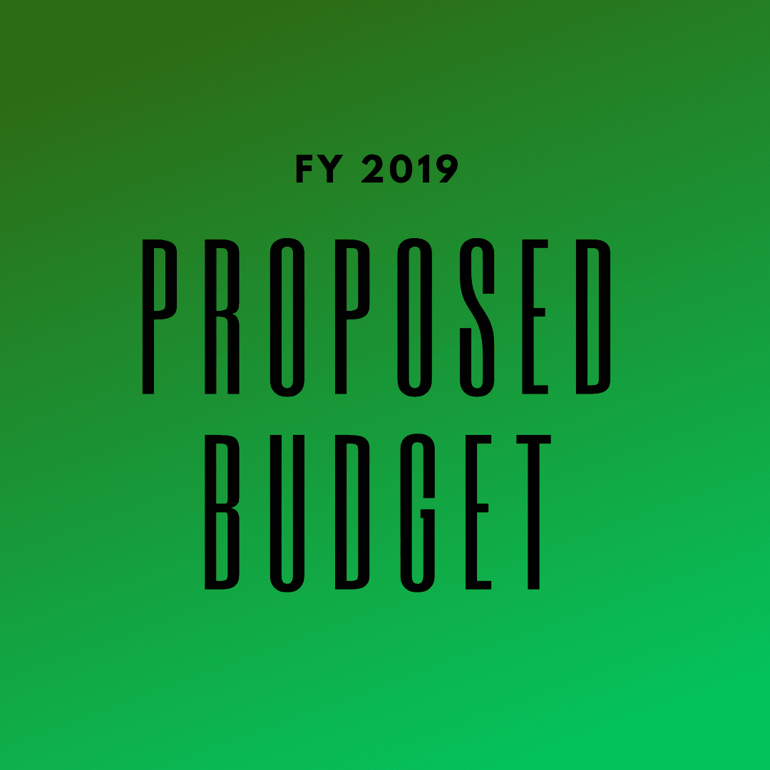 FY2019 proposed budget