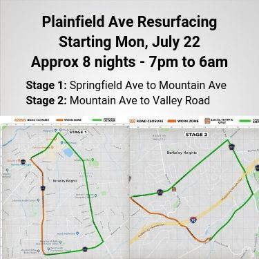 Plainfield Ave Closures Starting July 22