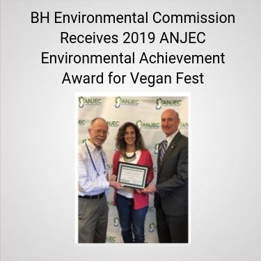 BH Environmental Commission Receives 2019 ANJEC Environmental Achievement Award for Vegan Fest