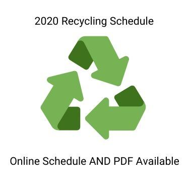2020 Recycling Schedule