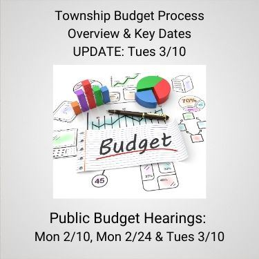 Township Budget Process Overview and Key Dates update