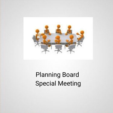 Planning board spec meeting