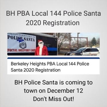 BH PBA Local 144 Police Santa 2020 Registration