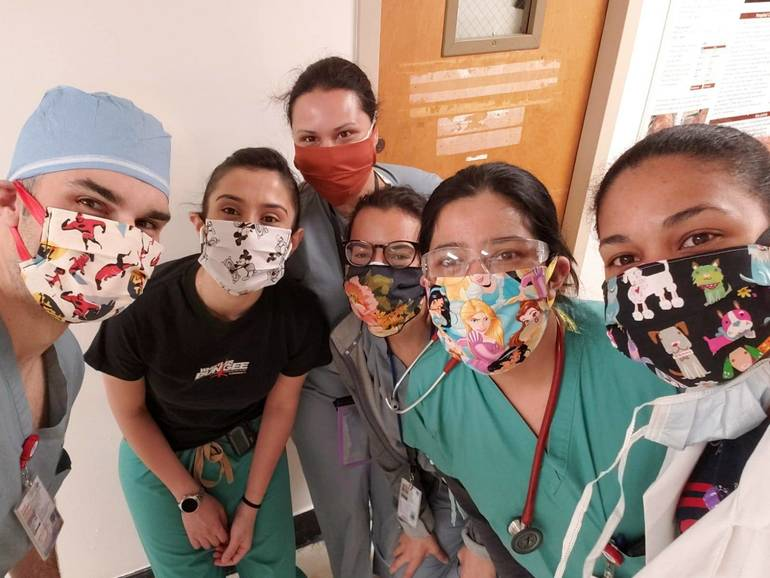 Donated Masks on Frontline