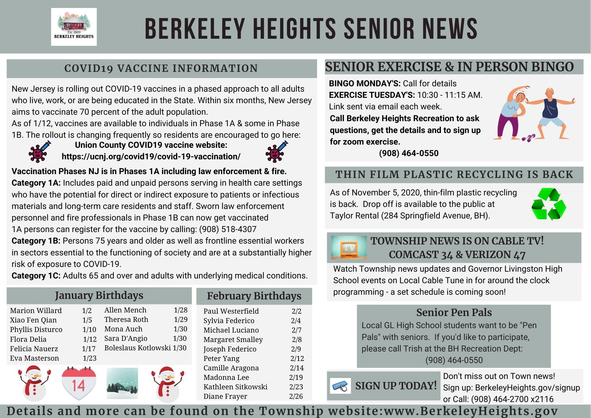 Senior Newsletter Jan 2021